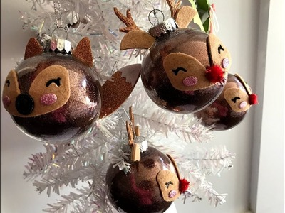 Handmade Christmas Ornaments | Lawn Fawn Woodland  Critter Huggers