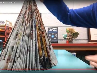 Holiday Hacks | Make a Folded Magazine Christmas Tree