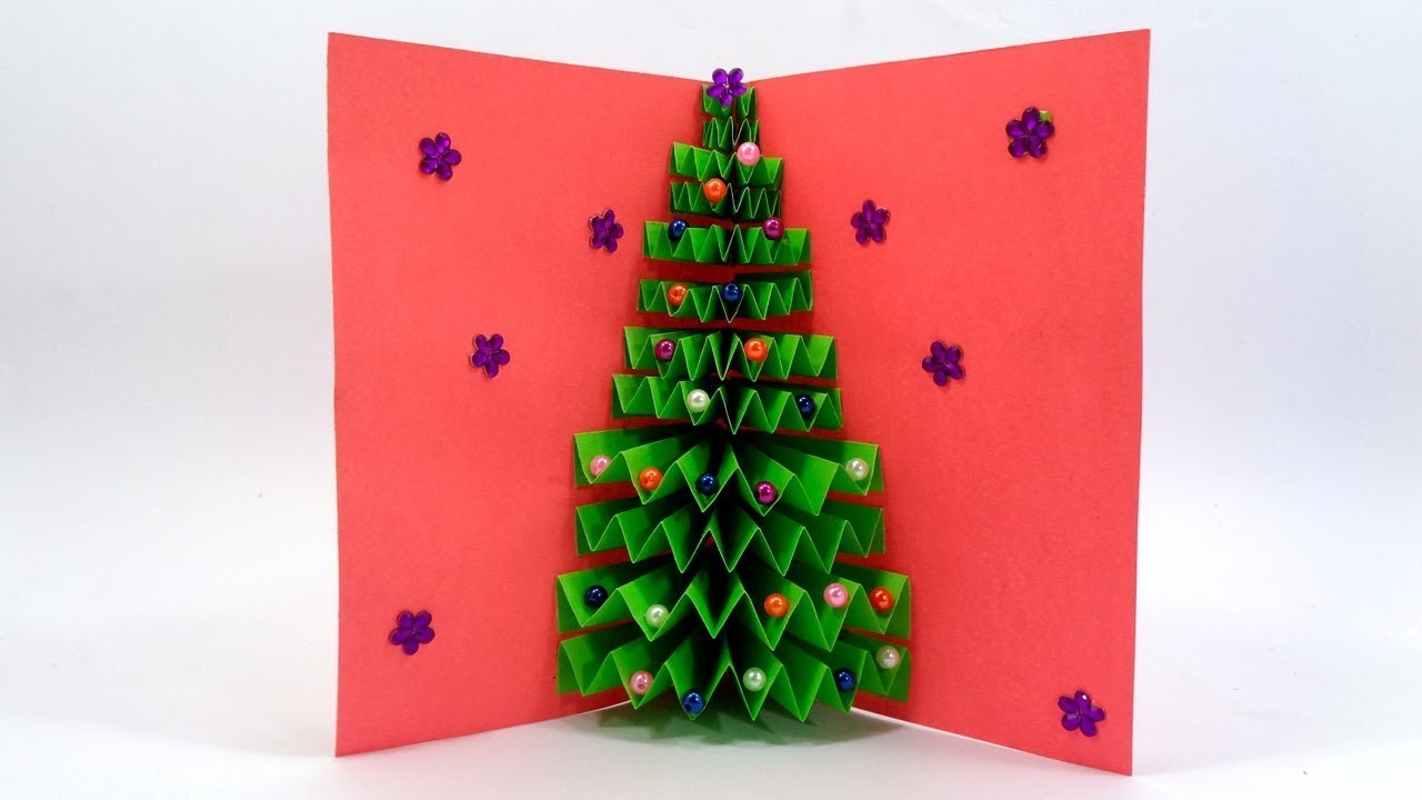 How To Make a Paper Christmas Tree Greetings Card For Wishing Your Dear Ones