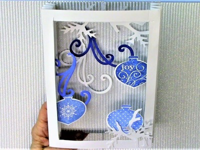 How to Shadowbox Christmas Cards 3, Series 2018 - Ornaments Cards