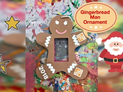 Kids Christmas Crafts | Gingerbread Man Ornament