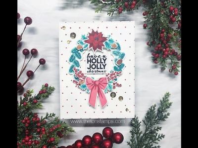 Layered Christmas Wreath Card