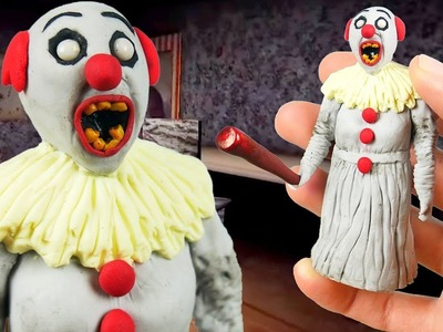 Making PENNYWISE GRANNY in POLYMER CLAY!????+????=?