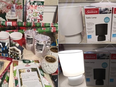 New Dollar Tree Haul ~ NEW LAMPS and Christmas Haul 18'