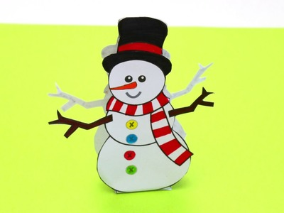 Paper Snowman - Christmas Crafts for Kids