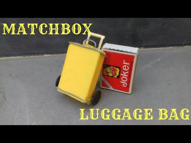 Rolling Luggage Bag Toy for kids||Easy Miniature Furniture DIY Craft