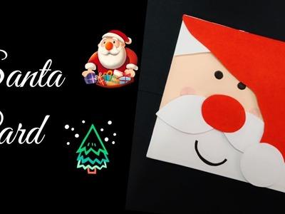 Santa Card.Christmas Santa Card.How to make Christmas Greeting Card.Christmas Card for Kids