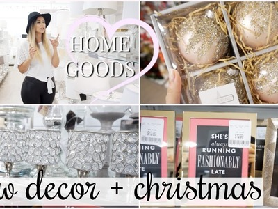 SHOP WITH ME AT HOMEGOODS! NEW HOME DECOR + SNEAK PEEK AT CHRISTMAS DECORATIONS