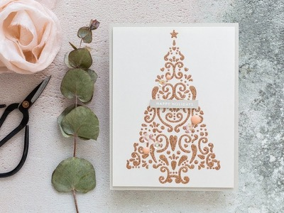 Super Clean & Simple, Easy To Mass Produce Handmade Christmas Card