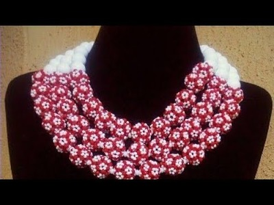 Tutorial On How To Bead Jewellery.Christmas Jewellery Design.