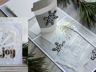 WHITE CHRISTMAS 2018 - DAY 21 - Wintertime Coffee Pop Up Card