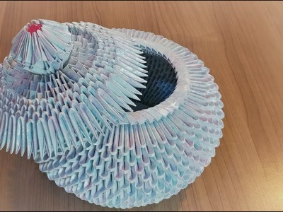 3D Origami -How to make a Jar (with cover)
