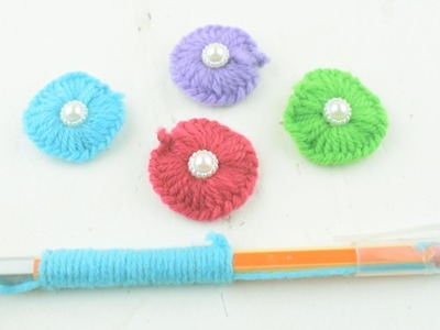 Amazing flower embroidery trick with pen    Sewing Hack With Pen    Hand Embroidery Amazing Trick