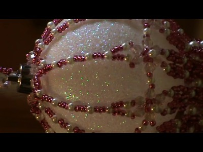Beaded Bauble     pretty in Pink  Crystal seed beads and pearls
