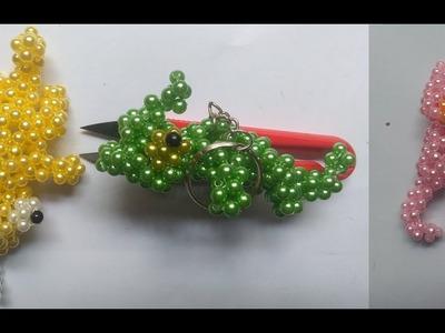 Beads - How to make keychains: chameleon 1.3 (tắc kè)