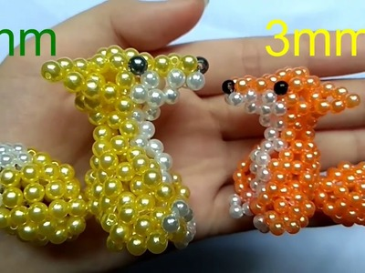 Beads - How to make keychains: fox 1.3 (con cáo)