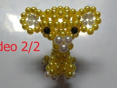 Beads - How to make keychains: elephant 2.2 (con voi)