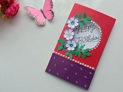 Beautiful Handmade Birthday card idea.DIY Greeting Cards for Birthday.
