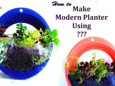 Beautiful Tree Pot or Planter Making With Kitchen Tools | Modern Planter DIY Ideas.GREEN PLANTS