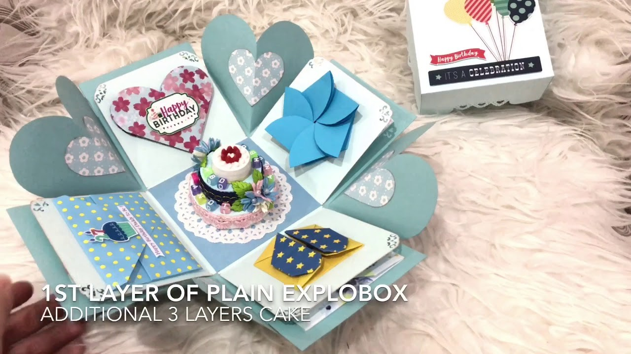 Birthday Explosion Box With Origami Ideas