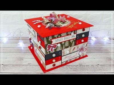 Calendario dell'Avvento a Cassetti - Drawer Box Advent Calendar DIY