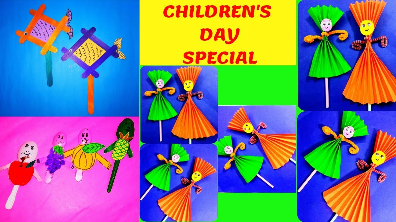 Childrens Day Special 3 In 1 Craft For Kids Very Easy Craft Ideas
