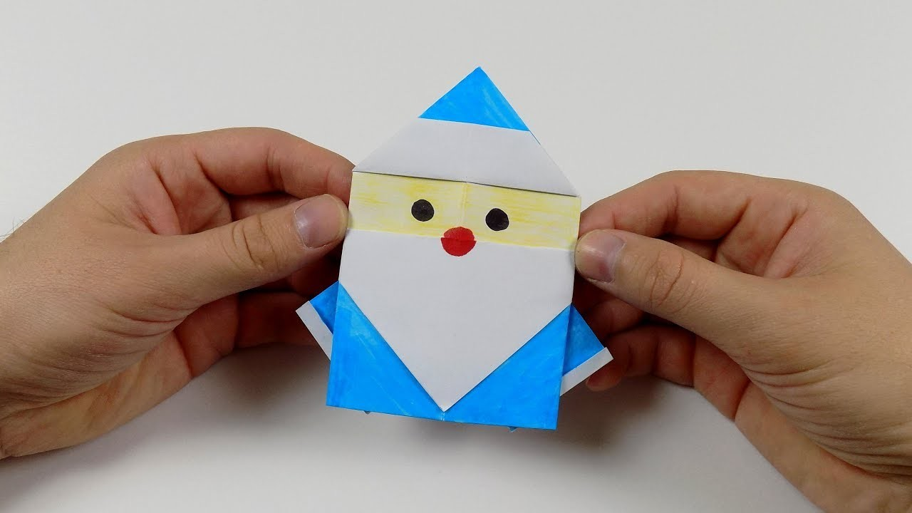christmas origami santa claus easy origami how to make
