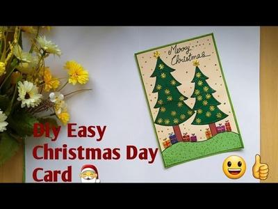 Christmas Tree Card | DIY Easy Christmas Card For Kids | Handmade #diychristmascard Making Idea