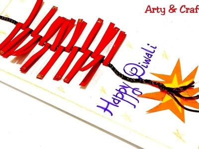 Diwali Card.Easy Festival Card.Diwali Card Tutorials.Handmade Diwali Greeting#ArtyandCrafty