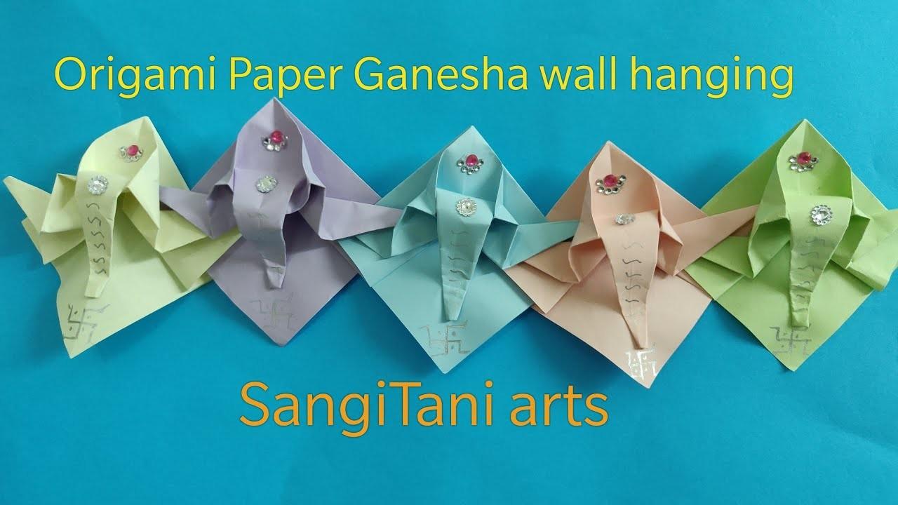 #Diwali toran.door hanging, #Origami Paper #decoration ... - photo#7