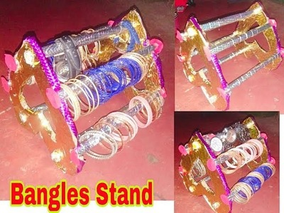 DIY bangle stand making with using cardboard || Best out of waste idea of cardboard