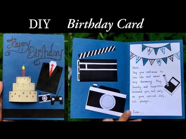 Diy Birthday Card For Brother Boyfriend Boy Handmade Birthday