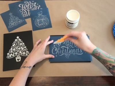 DIY Chalkboard Screen Printing Process Video w. Silkscreen Stencils