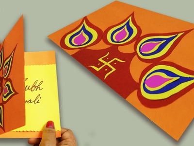 DIY | Diwali Handmade card idea |Easy & Beautiful Greeting Cards for Diwali