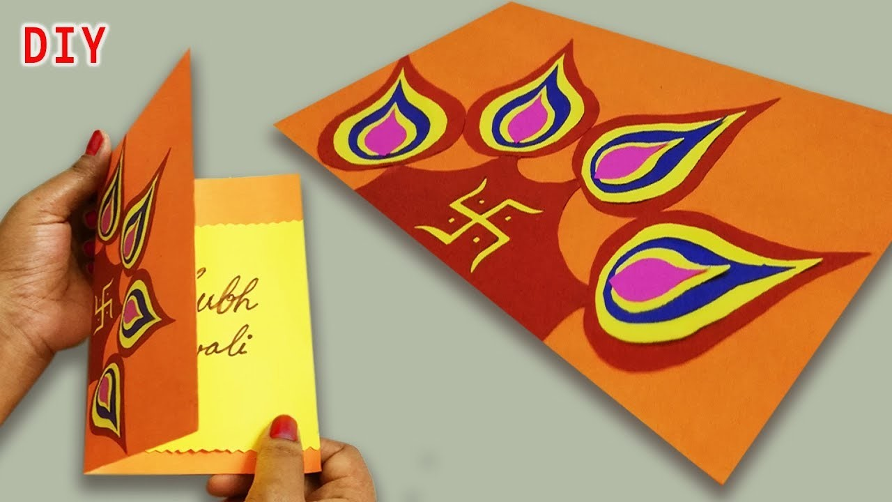 Diy Diwali Handmade Card Idea Easy Beautiful Greeting