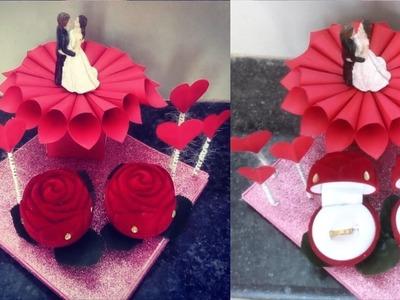 DIY Engagement Ring Tray    How to Make Decorative Ring Tray #weddingtray    Art knack by Aditi