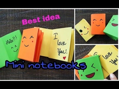 DIY MINI NOTEBOOKS ~ Best idea for back to school. handmade by Yen Nhi channel