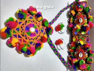 DIY Navaratri Necklace | Navaratri Ornaments Making | Navaratri jewellery Handmade