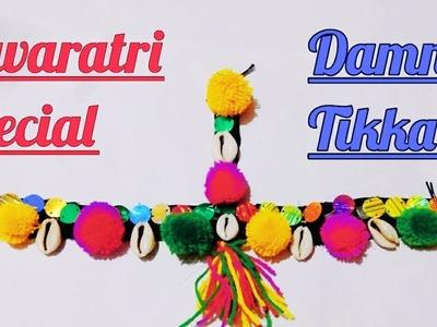 DIY Navratri Special Damni-Tikka | Navaratri Ornaments Making | Navaratri jewellery Handmade