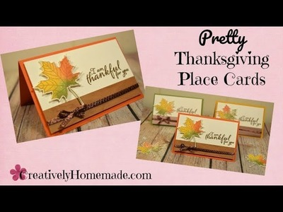 DIY Thanksgiving Place Cards - So Pretty and So Simple to Make!