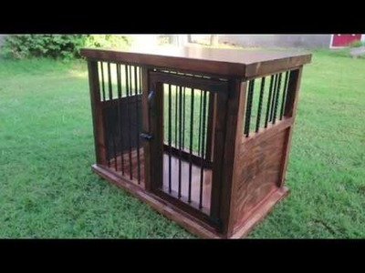 DIY Wooden Dog Crate