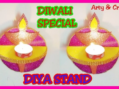 Make Diya Stand Wall Hanging Diya Stand Diwali Craft Idea Diwali