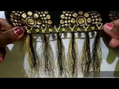 Double Knots Saree Kuchu with Flower Beads I New Saree Gonde Designs I Ladies Club
