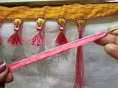 Easy and Attractive Saree Kuchu with Heart shape Beads I Ladies Club