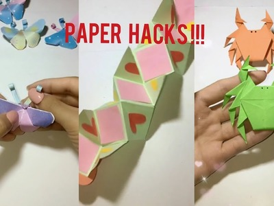 Easy paper cut origami butterfly make | Crabs make by colour paper | Lego toys make by paper
