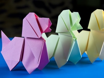Easy way to make a paper Dog |  Origami Dog