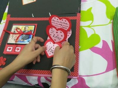 Handmade love scrapbook for wife.