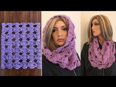How to Crochet Mini Bows Cowl. NeckWarmer Pattern #794│by ThePatternFamily