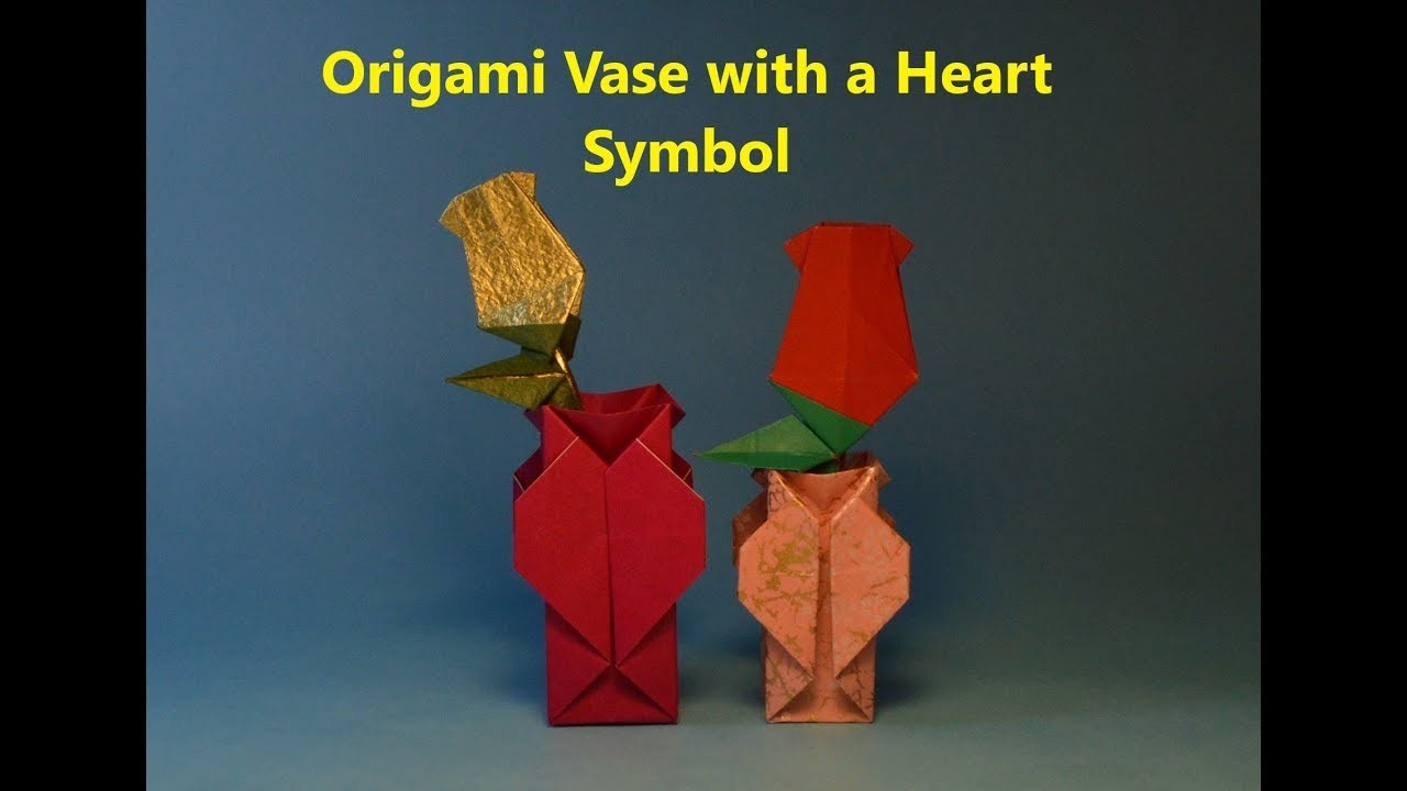 How To Make An Easy Origami Vase