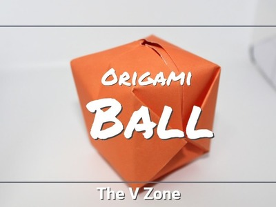 How to make an origami ball - Easy steps to make a paper ball | 4k video